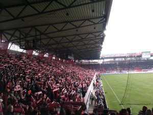 The East stand massive