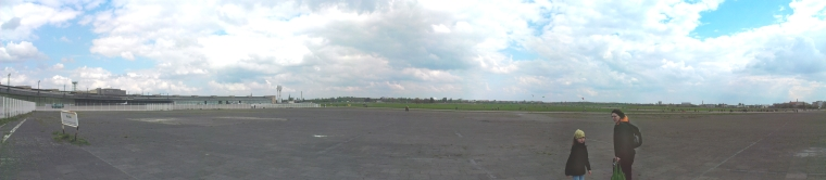 Panorama of Tempelhofer Feld including the airport building